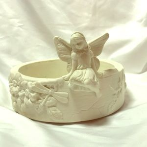 Partylite Fairy Girl and Dragonflies Planter
